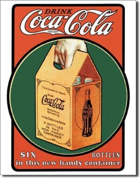 Coca Cola Handy Six Pack Tin Sign
