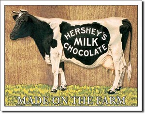 Hershey's Cow Tin Sign