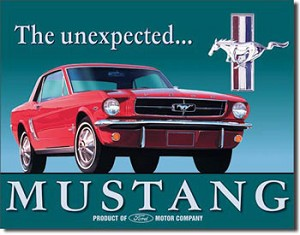 Ford Mustang Tin Sign