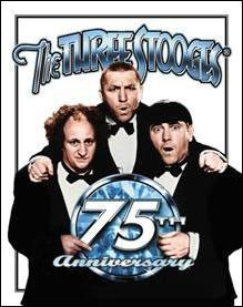 Stooges 75th Anniversary Tin Sign