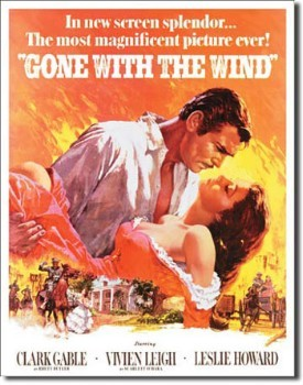 Gone With the Wind Poster Tin Sign