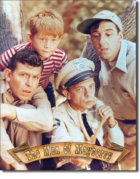 Griffith - Men of Mayberry Tin Sign