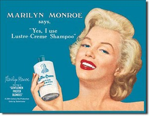 Marilyn - Luster Creme Tin Sign
