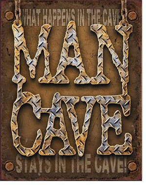 Man Cave Diamond Plate Tin Sign