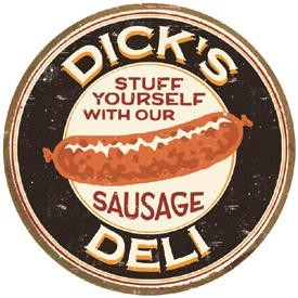 Moore Dick's Sausage Tin Sign