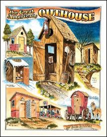 Bates Outhouses Tin Sign