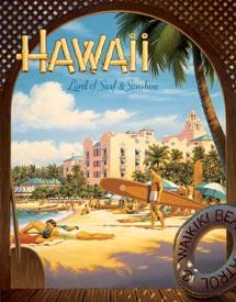 Erickson Hawaii Sun and Surf Tin Sign