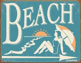 Schonberg Beach Tin Sign
