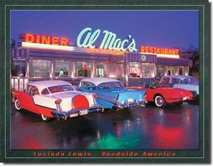 Lucinda Lewis Diner Tin Sign