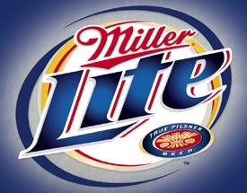 Miller Lite Brushed Metal Tin Sign