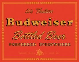 Budweiser Preferred Tin Sign