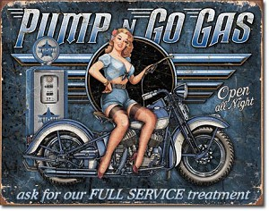 Pump n Go Gas Tin Sign