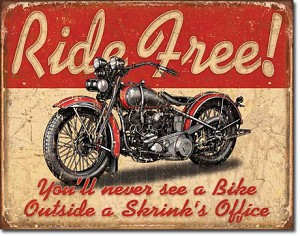 Ride Free Tin Sign