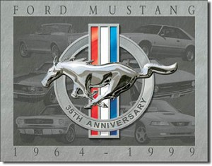Mustang 35th Anniversary Tin Sign
