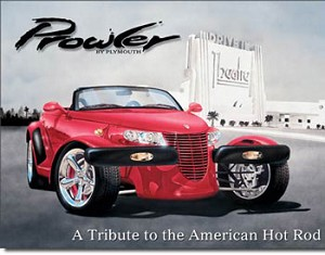 Plymouth Prowler Tin Sign