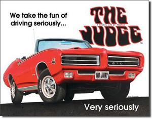 Pontiac GTO The Judge Tin Sign