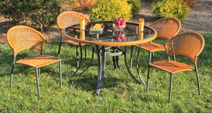 Synthetic All Weather Wicker 5 Piece Dining Set