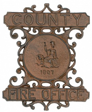 County Fire Office Iron Sign