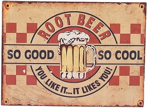 Root Beer Tin Sign