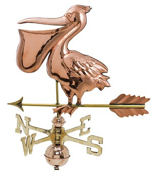 Pelican Weather Vane Polished Copper and Brass
