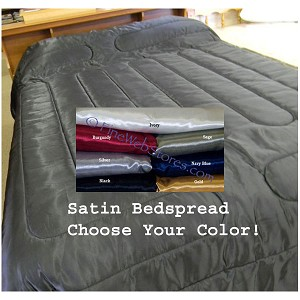 Satin King and Queen Size Waterbed Comforter