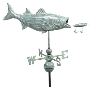 Bass & Lure Weathervane Patina Finish