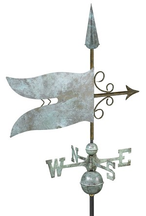 Banner Weathervane Patina Finish